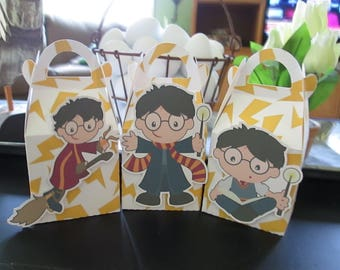 It's All About Harry Inspired Gable Favor Boxes with Tags Set of 12