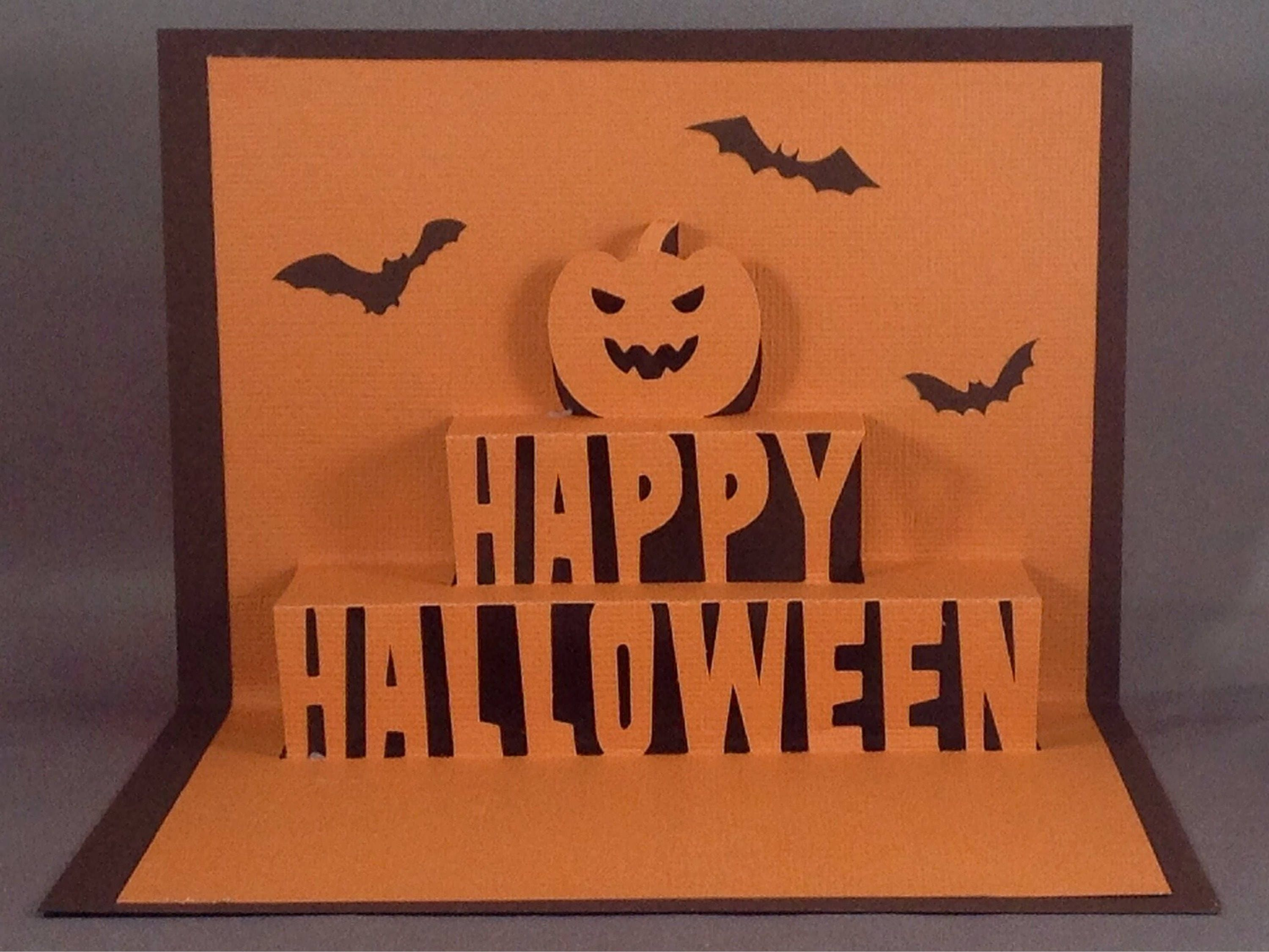 Cute Halloween Cards with Halloween Bat & Pumpkin Spice, Halloween ...