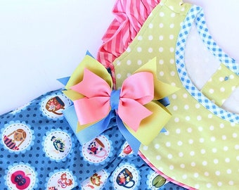 MJ Bows - School Girl Maddie - layered bow made to match Matilda Jane Clothing, Back To School