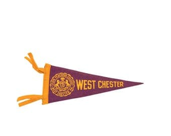 West Chester State Teachers College PA Felt Flag