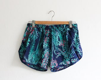 vic & lily Salvaged Navy Printed Runner Shorts