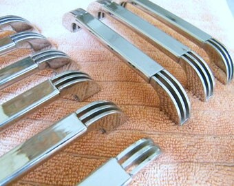 9 Vintage Contemporary Mid Century Modern Furniture Cabinet Drawer Pull Handles