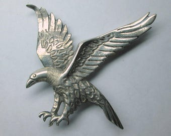 Sterling silver eagle from Peru , initials JF