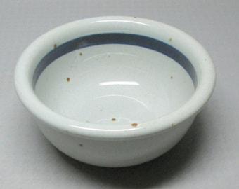 Dansk BLT bowl with blue band , soup cereal size . Breakfast Lunch Tea