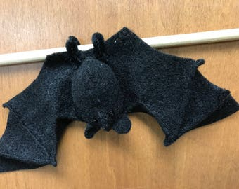 mini felt bat wants to hang out