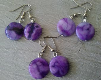 Dyed Crazy Lace Agate Earrings