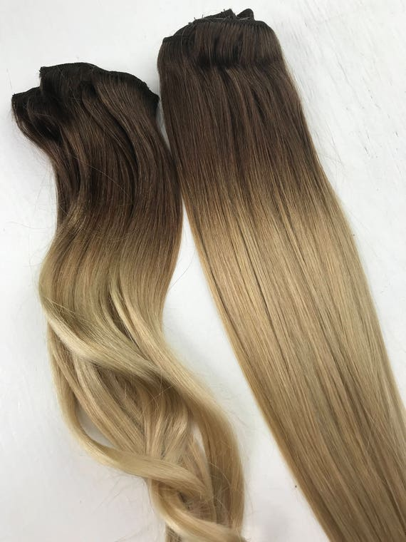 Bleached tips ombre hair extensions balayage human hair like this item pmusecretfo Choice Image