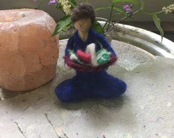 Personal Mythology Goddess-needle felted doll
