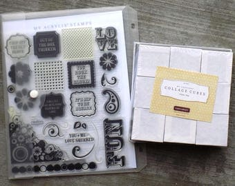 My Creations Collage Cubes - Rock the Block Stamp Set