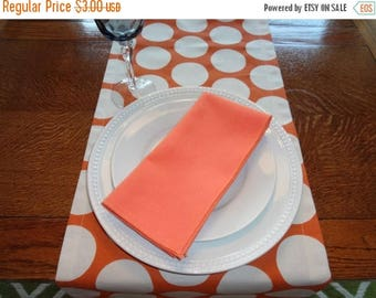 FALL is COMING SALE Sale Orange Sherbert Napkin Table Decor Dining Room Size 16x16 17x17 Napkins