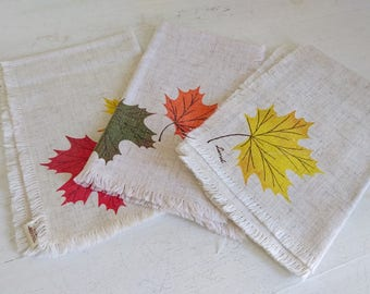 Vintage Lund Canada Placemats - Maple Leaf x 3