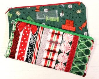 Christmas Cash Envelope - Cash Budget System - 1 Cash Budget Envelope with Zipper Closure - Ready to Ship