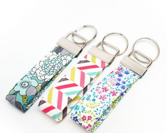 Fabric Key Chain / Key Fob / Wristlet - Choose Your Fabric and lenght