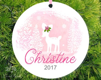 Fawn Ornament Baby Deer Ornament Baby's 1st Ornament New Baby Gift 1st Christmas Ornament Baby Girl Gift Baby Ornament Baby Shower Gift