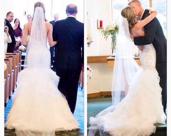 Chapel veil, chapel length veil cathedral veil