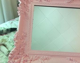 Shabby large Baroque Mirror, Nursery, bathroom gloss ballet slipper pink