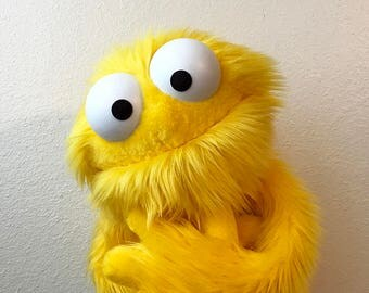Professional Yellow Furry Monster Puppet