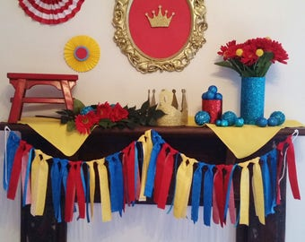 Princess Elena of Avalor Fabric Garland - Princess Elena First Birthday - Highchair Garland - Fiesta - First Birthday Photo Prop - Nursery