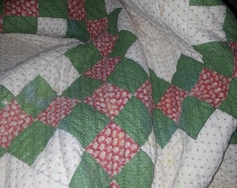 Antique Hand Pieced and Hand Quilted Made in Texas