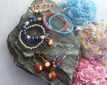 Inspired by Evie, Descendants.  Deluxe Set of Crown, Bracelet, Earrings and Necklace