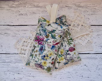 Garden Liberty of London Set of two hanging lavender sachets  for your drawers or your bathroom . sleep aid or small gift.