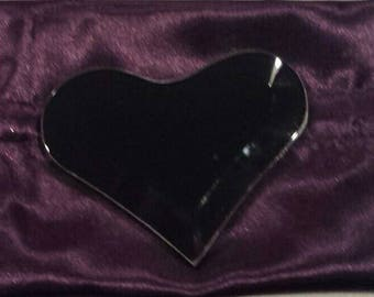 Black Heart Scrying Mirror