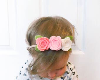 "The ""Olivia"" Mini Felt Flower Crown"