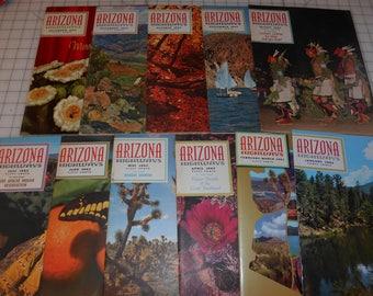 1962 Arizona Highways Magazines includes 50 year anniversary issue
