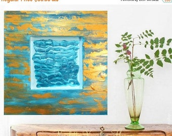 SALE Original  gallery canvas Abstract painting,comtemporary Modern  Art,textured, Ready to hang  by Nicolette Vaughan Horner