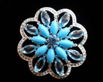Now On Sale Vintage Blue Rhinestone Brooch, Retro Collectible Pin, Mid  Century Vintage Jewelry