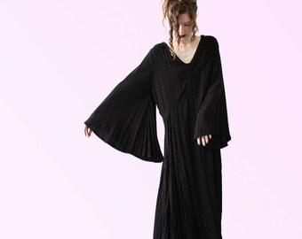 RESERVED reserved RESERVED Vintage 70s Style Boho Dress Romantic Full Witch Vamp Stevie Nicks Vibes Hippie Mystic Mama VTG
