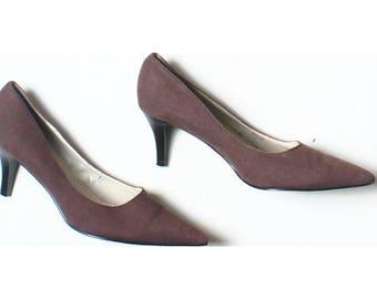 Marks & Spencer Brown Mid Heel Court Shoes UK 5.5 US 8 EU 38.5