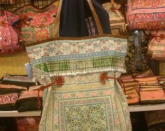 Tote/vintage -Tribal-Handmade Ethnic Hmong Bag 015