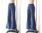 RESERVED / vintage 1970s Sears wide leg jeans / size medium large