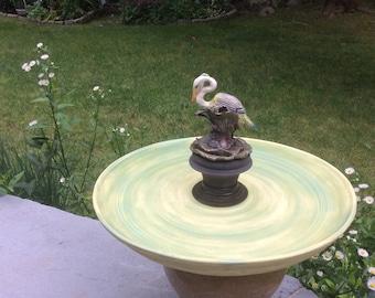 Heron Birdbath