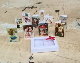 Dollhouse Miniature Christmas cards
