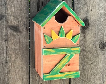 Screech Owl House, Owl's Nest Box, Handmade Wooden Birdhouse For Owls, Saw-Whet Owl House, Rustic Birdhouses For Sale, Item #526707592