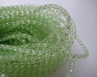 4 mm APPLE GREEN Mesh Tubing, Nylon Mesh Tubing, Mesh Wreathes for Wedding, Baby Shower, Crafting, Embellishment, 50 yards