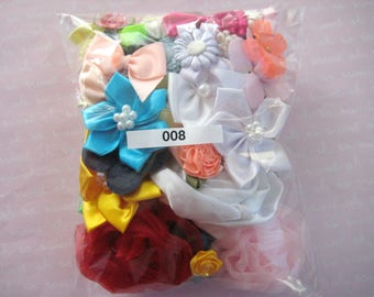 GRAB BAG, Assorted Appliques, Multi Combo for Sewing, Crafting, Scrapbooking Embellishment, Hair Accessories, Doll Clothes, 1 Bag, 2 oz, 008