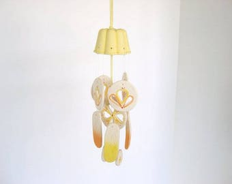 Wind chime, dome wind chime, ceramic wind chime, yellow chime
