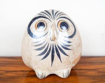 Vintage Small Ceramic Owl Bird Decoration, Animal Nursery Decor Decoration, Mexico Living Style Interior Design, Housewarming Gift Ideas