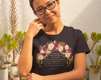 Audre Lorde Self-Preservation Women's Short Sleeve T-Shirt (Dark Colors)