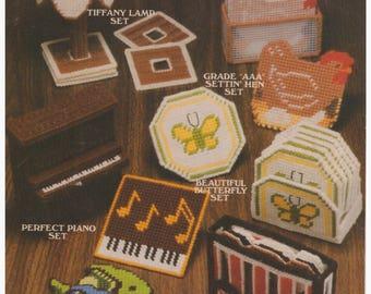 Plastic Canvas Pattern, Plastic Canvas Vintage Pattern, Plastic Canvas Coaster Pattern