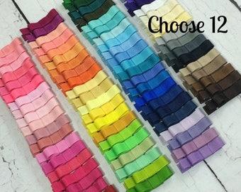 ON SALE Girls Hair Clips, 12 Tuxedo Alligator Clips, You Choose From 85 Colors, Starter Set, Babies Toddler Girl Women