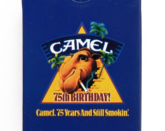 Vintage 1988 Camel 75th Anniversary Joe Camel Poker Size Playing Cards