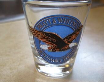 Vintage Pratt & Whitney Aircraft Shot Glass