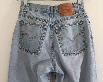 Vintage Levi's 550 Relaxed Fit Tapered Leg Jeans Sz 8 28 x 28