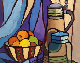 Objects of Interest Still Life Oil Painting Abstract Art