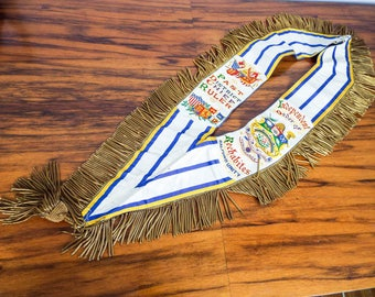 Antique Temperance Ceremonial Regalia Sash IOR Chief Ruler Order of Rechabites