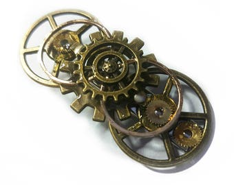 Steampunk Tie Pin/Clip Set - Costume, Wedding